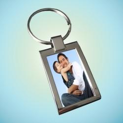 Porte-clés métal brillant 2...
