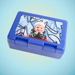 Boîte à goûter bleue...