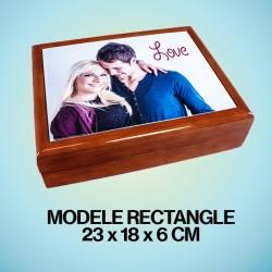 Boîte en bois personnalisée...